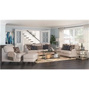 Pewter Sofa, Loveseat, Chair and Ottoman Set