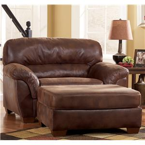 Ashley Furniture Frontier - Canyon  Upholstered Chair & A Half & Ottoman