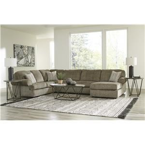 3 Piece Sectional with Right Arm Facing Chaise