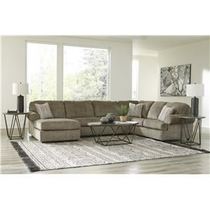 3 Piece Sectional with Left Arm Facing Chaise