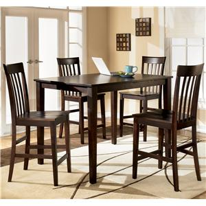 Ashley Furniture Hyland Rectangular Counter Height Table w/ 4 Stools