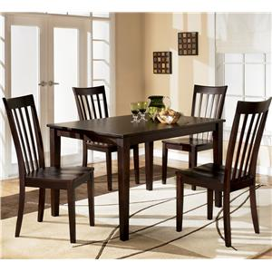5-Piece Dining Set with Rectangular Table and 4 Chairs