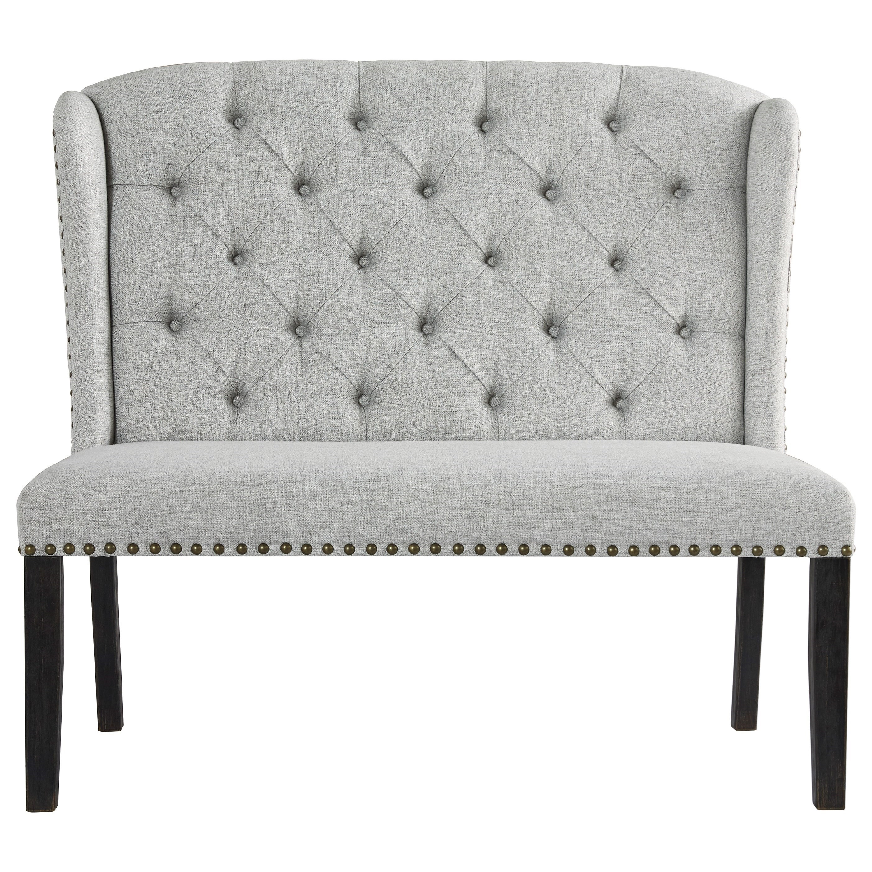 Jeanette Upholstered Bench by Ashley Furniture at EFO Furniture Outlet