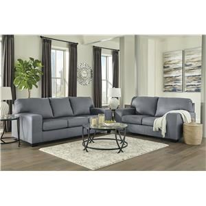 Steel Sofa and Loveseat Set