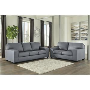 Gray Sofa and Loveseat Two Piece Set