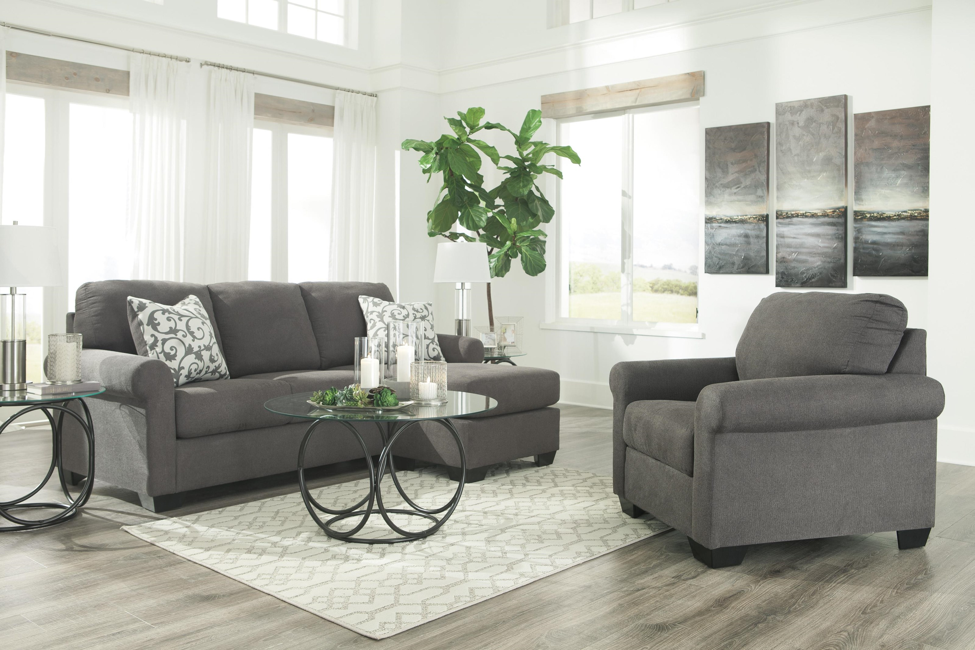 Kexlor Chaise Sofa and Chair Set by Ashley Furniture at Sam Levitz Outlet