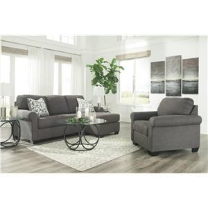 Alloy Chaise Sofa and Chair Set