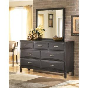 Ashley Furniture Kira Dresser and Mirror Combo