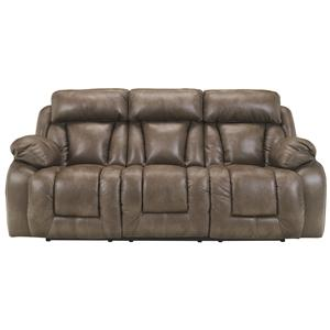 Ashley Furniture Loral - Sable Reclining Power Sofa