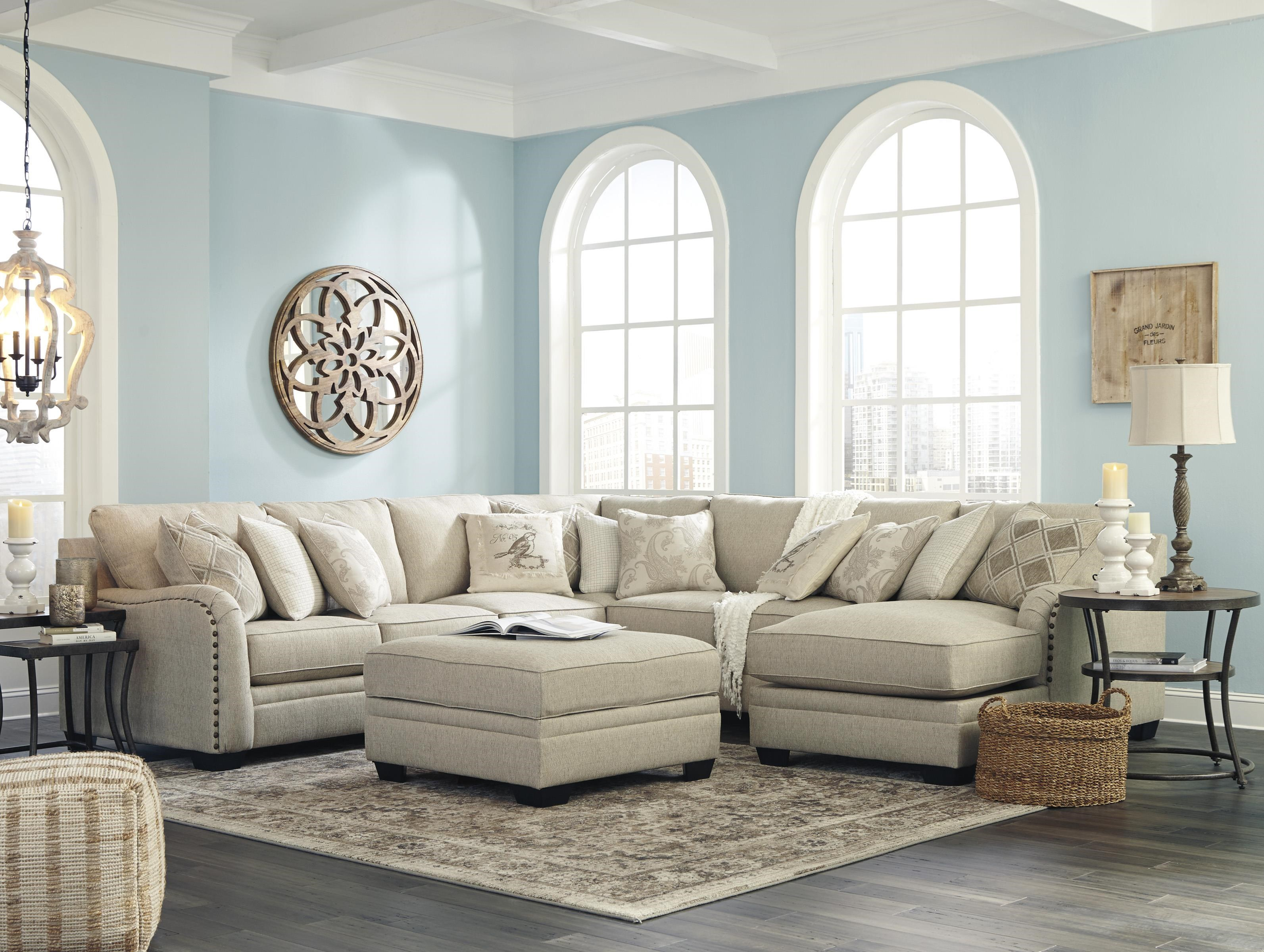 Luxora 5 Piece Sofa Sectional and Ottoman Set by Ashley Furniture at Sam Levitz Furniture