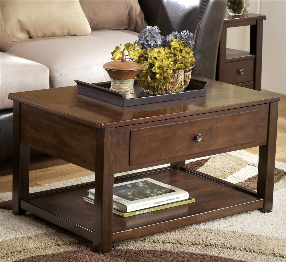 Marion Lift Top Cocktail Table by Signature Design by Ashley at Beck's Furniture