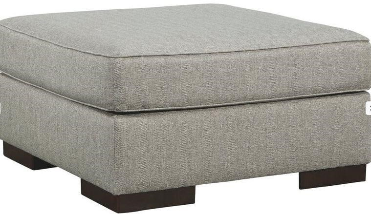 Marsing Nuvella Slate Ottoman by Ashley Furniture at Johnny Janosik