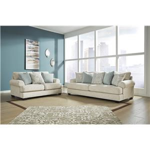 Sandstone Sofa and Loveseat Set