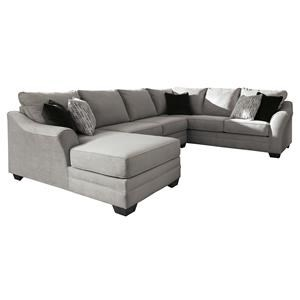 3 Piece Pebble Right Arm Facing Sectional