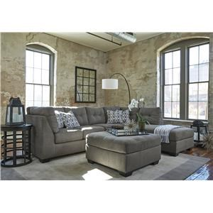 Slate 2 PC Sectional and Ottoman Set