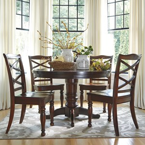 Ashley Furniture Porter House 5-Piece Round Dining Table Set