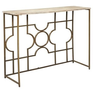Contemporary Console Sofa Table with Solid Wood Top