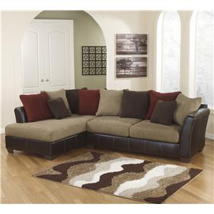 Ashley Furniture Sanya - Mocha 2-Piece Sectional with Left Chaise