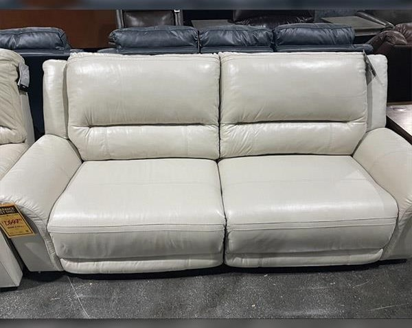 Last One Sofa Last One! Power Leather Sofa! at Morris Home