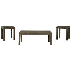 Contemporary Occasional Table Group with Parsons Leg Design