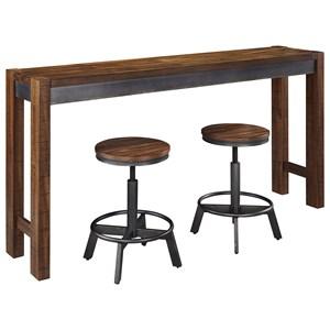 3 Piece Long Counter Table Set