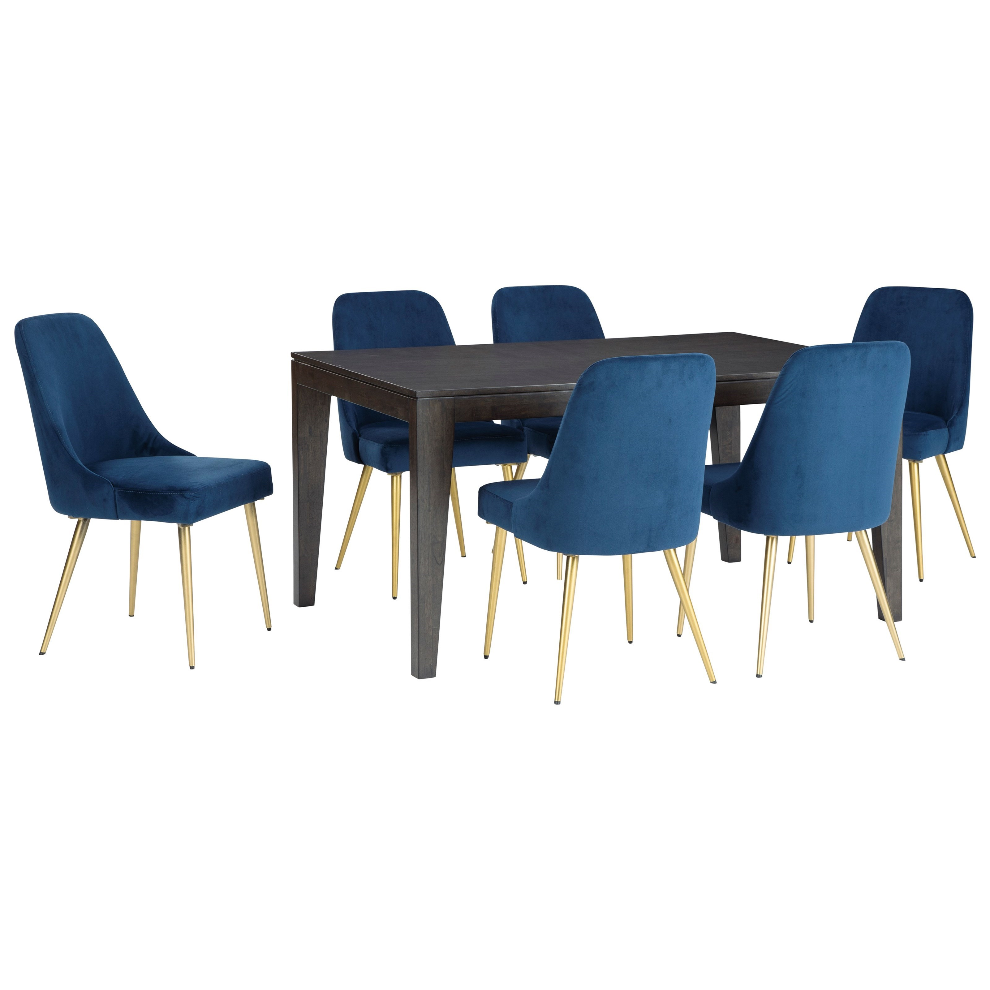 Trishcott 7-Piece Table and Chair Set by Ashley Furniture at Houston's Yuma Furniture