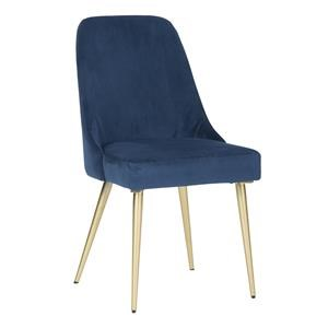 Blue Upholstered Dining Side Chair