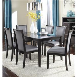 Ashley Furniture Trishelle 7-Piece Rectangular Dining Table Set