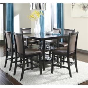 Ashley Furniture Trishelle 7-Piece Counter Table Set