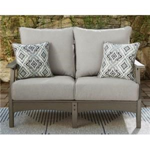 Outdoor Loveseat with Throw Pillows