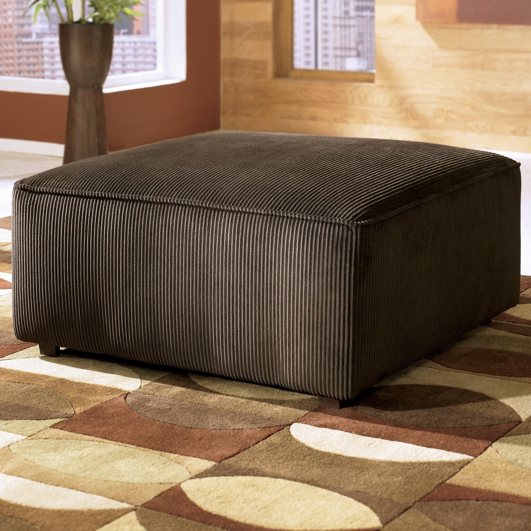 Vista - Chocolate Ottoman by Ashley Furniture at Lapeer Furniture & Mattress Center