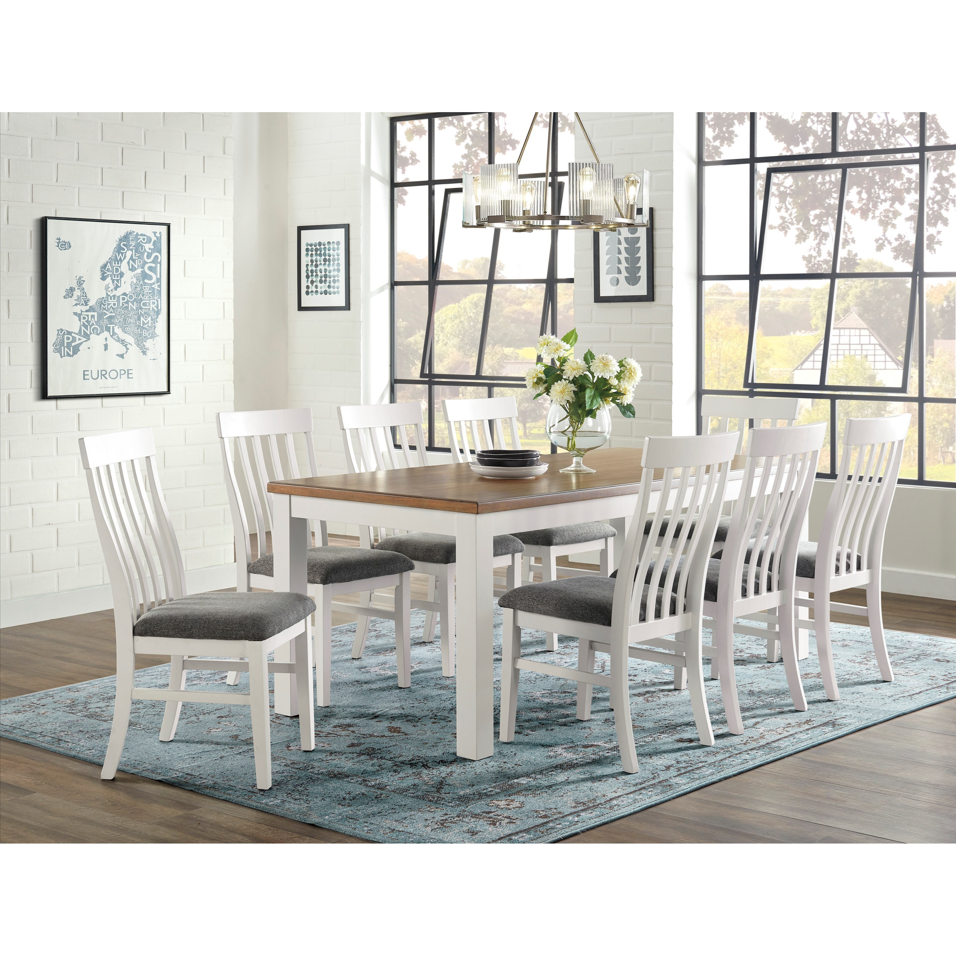 Westconi 9-Piece Dining Table Set by Ashley Furniture at Red Knot