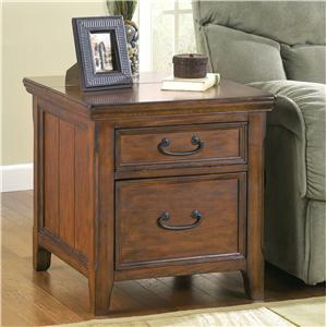Rectangular End Table with Work Center