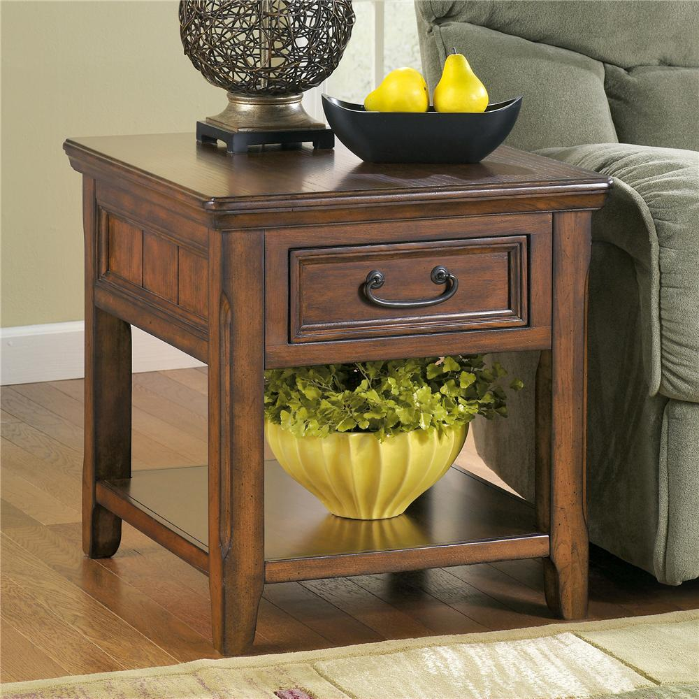 Woodboro End Table by Signature Design by Ashley at Beck's Furniture