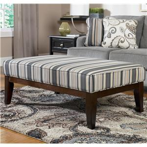 Ashley Furniture Yvette - Steel High Leg Cocktail Ottoman