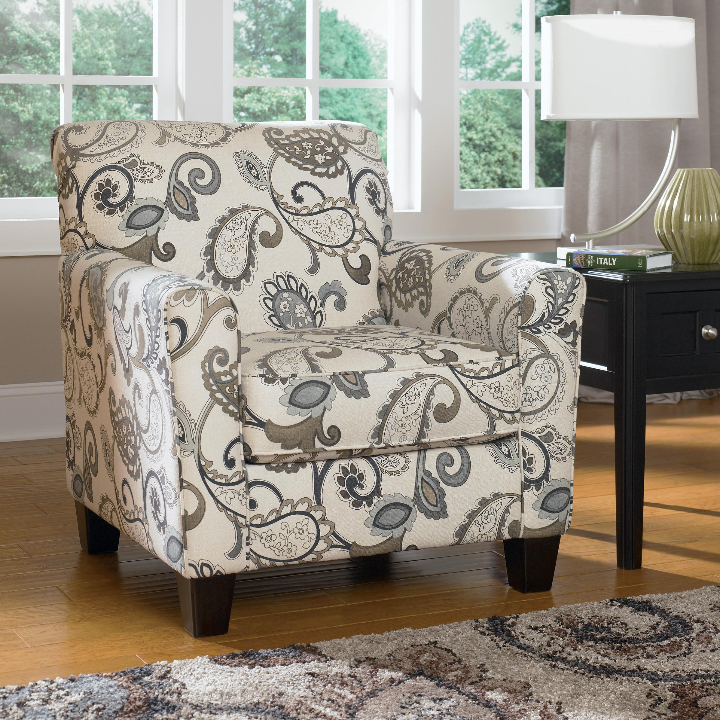 Yvette - Steel Accent Chair by Ashley Furniture at Lapeer Furniture & Mattress Center
