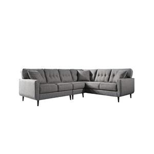 Charcol 3PC Sectional and Accent Chair
