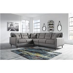 3 Piece Sectional Left Arm Facing with Accent Chair
