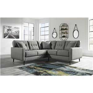 2 Piece Sectional with Left Arm Facing Sofa