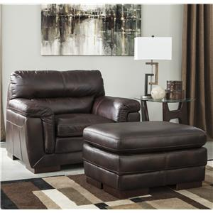 Ashley Furniture Zelladore - Canyon Chair & Ottoman