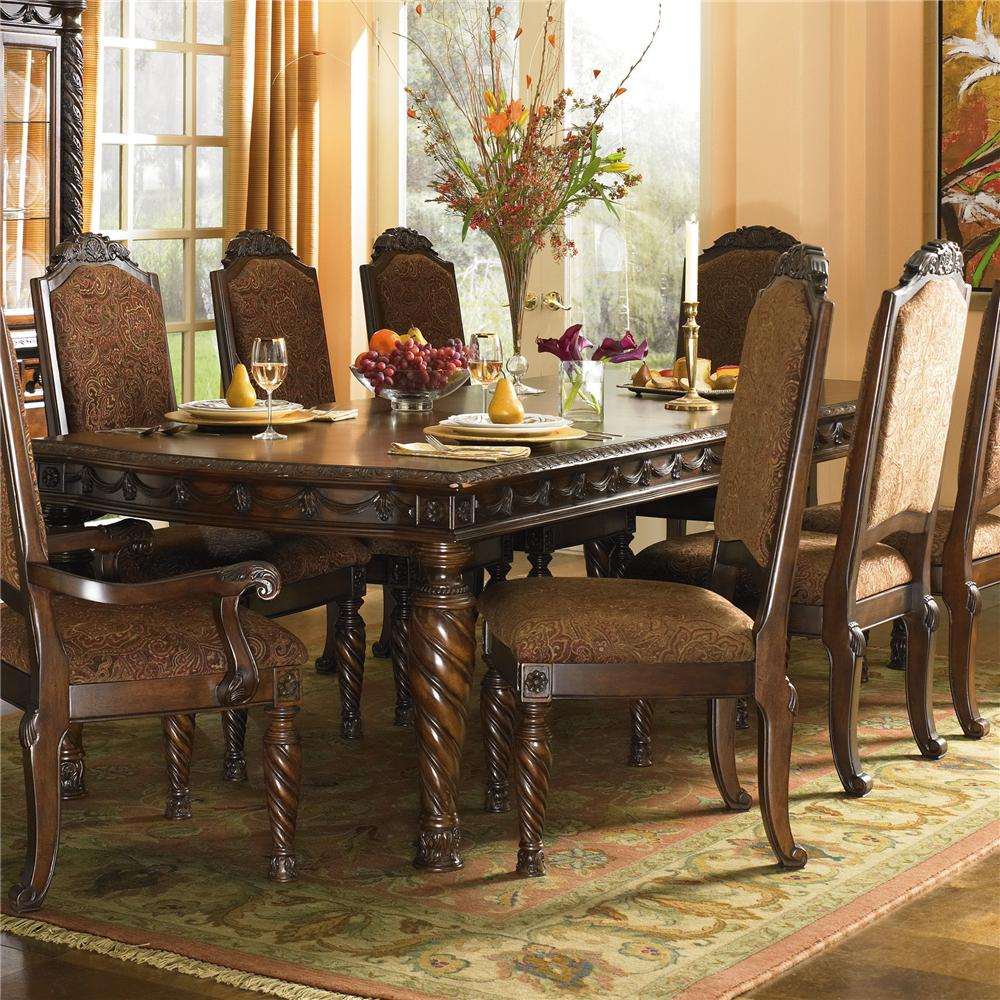 North Shore Rectangular Extension Table & Dining Chairs by Millennium at Lapeer Furniture & Mattress Center