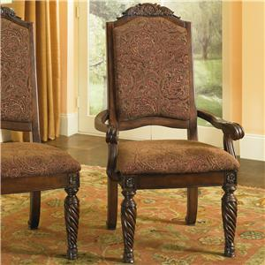 Upholstered Scroll Arm Chair