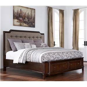 Millennium Larimer King Upholstered Storage Bed
