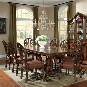 Millennium Ledelle 9-Piece Rectangular Table Set