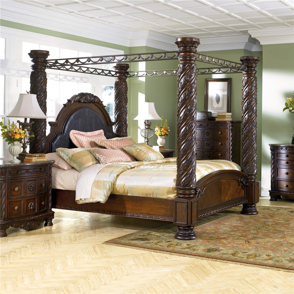 North Shore King Canopy Bed by Millennium at Northeast Factory Direct
