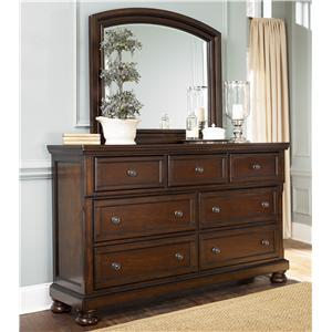 7 Drawer Dresser & Mirror Combo