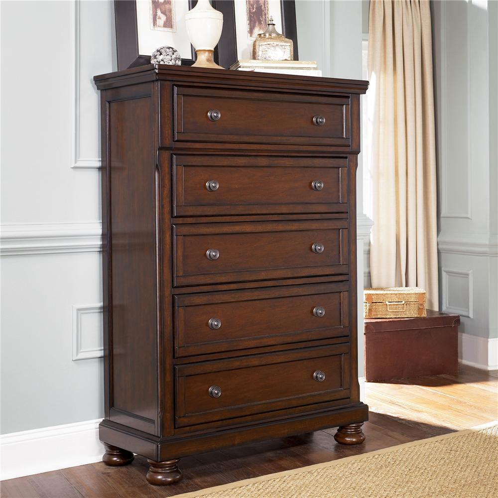 Porter Chest of Drawers by Ashley Furniture at Darvin Furniture