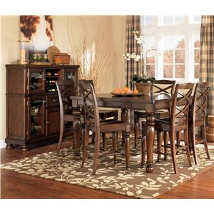 Ashley Furniture Porter House 7 Piece Counter Height Table & Stool Set