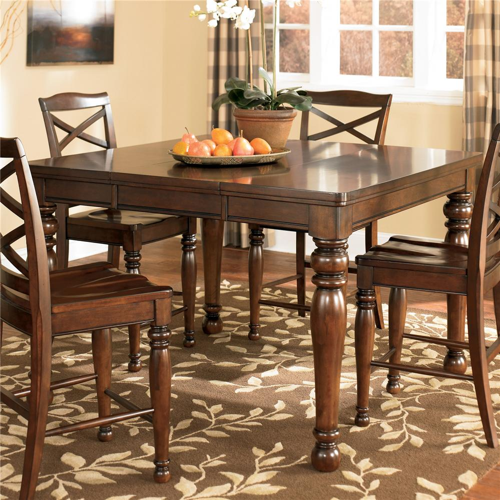 Porter House Counter Height Extension Table by Ashley Furniture at Furniture and ApplianceMart