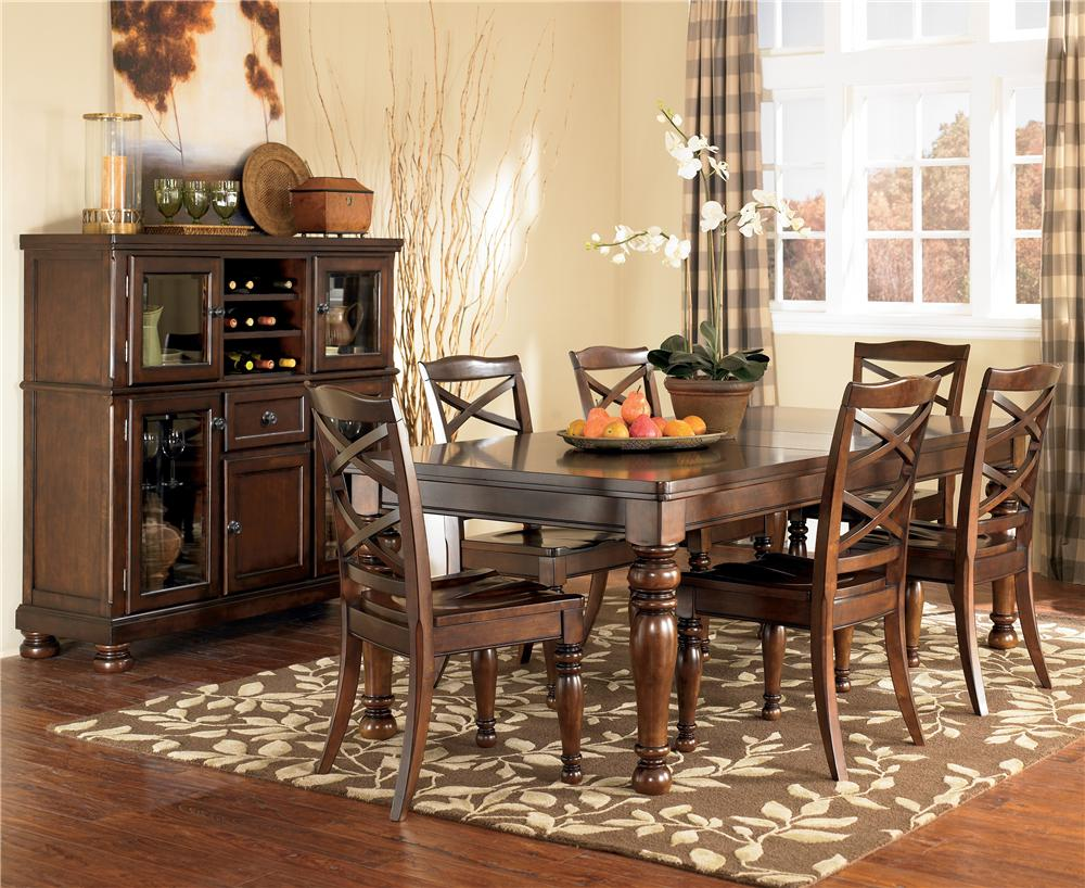 Porter 7 Piece Table & Chair Set by Ashley Furniture at Rife's Home Furniture